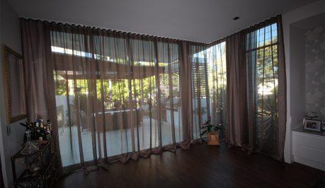 curtains on poles flooding