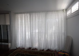 curtains on track
