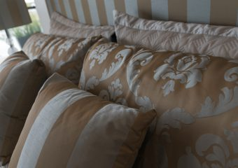 Upholstery-matching pelment, bedhead, cushions, lampcover-1