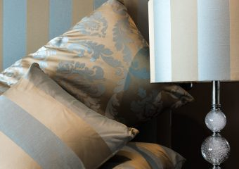 Upholstery-matching pelment, bedhead, cushions, lampcover-2